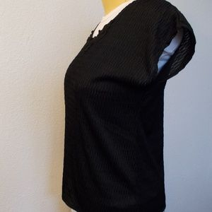 Joanna Tops - Joanna thin black shell top w/ cap sleeves size L